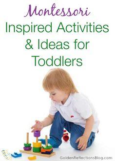 Montessori Homeschool ideas for toddlers | www.GoldenReflectionsBlog.com