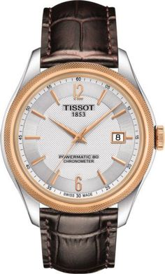 Tissot Ballade Powermatic 80 COSC Watch with Silver Dial and Brown Leather Strap Best Watches For Men, Cool Watches, Men's Watches, Luxury Watches, Fashion Watches, Men's Fashion, Le Locle, Swiss Automatic Watches, Brown Leather Strap Watch