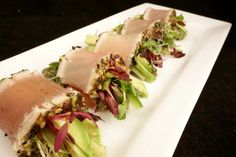 à table | French Cooking Recipes | Travel | at Home | chef Lisa Baker Morgan » Blog Archive » seared tuna rolls with micro greens