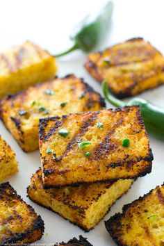 Grilled Cornbread with Jalapeño Honey Butter countryliving