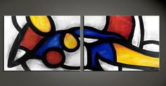 ABSTRACT PAINTING women  Painting Original Canvas Art by ArtCCarol