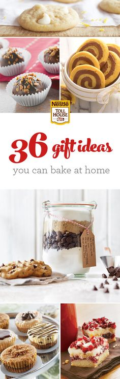 For the holiday season, bring some DIY gifts to your next holiday party for a sweet, unexpected surprise. From cute mason jars prepped with all the ingredients needed to make your favorite cookie recipe to gift-wrapped batches of decadent holiday truffles and themed desserts, it's easy to give a homemade gift straight from your heart (and oven). We've pulled together 36 great Christmas gift ideas to inspire your DIY holiday gifting.