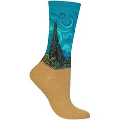 Hot Sox Wheat Field with Cypress Socks ($8) ❤ liked on Polyvore featuring intimates, hosiery, socks, teal, hot sox socks, colorful socks, multi colored socks, teal socks and multi color socks