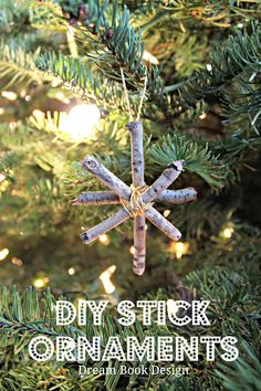 DIY Wooden Christmas Ornaments by Dream Book Design