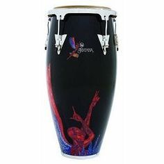 """Latin Percussion LPA622-SNB Aspire Santana 12"""" Tumbadora Conga by Latin Percussion. $187.95. 12"""" Tumbadora Conga. Made by Latin Percussion.LP is celebrating its long-standing relationship with Latin/rock legend Carlos Santana by creating exclusive Aspire model congas that feature artwork from Santana's 1970 breakthrough album, Abraxas. The striking figure of a soaring angel mounted atop a conga drum is distinctive and instantly recognizable. LP Aspire Santana Abraxas Angel co..."""