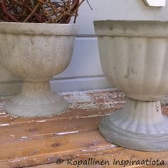 Diy And Crafts, Planter Pots, Diy Projects, Patio, Cement, Handyman Projects, Handmade Crafts, Diy Crafts, Terrace