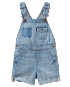 Great for casual family outings, these denim shortalls feature a chest pocket with snap closure and adjustable straps that help ensure a snug fit!