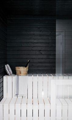 Sauna Design, Finnish Sauna, Interior Architecture, Interior Design, Attic Bathroom, Saunas, Amazing Bathrooms, Tiny House, Furniture Design