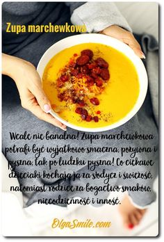 Soup with carrot Hells Kitchen, Carrots, Fruit, Food, Smile, Essen, Smiling Faces, Yemek, Meals