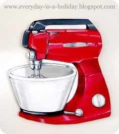 JUMBO Red Vintage Mixer | Everyday is a Holiday |❤❤❤  Recipe 4 Happiness At Jw.org ❤❤❤