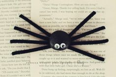 DIY Halloween : DIY silly stone spiders