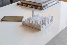 Microscape 3D printed tiles of Manhattan by TO+WN Design and AJSNY #newyorkiloveyou #butyourebringingmedown