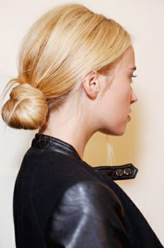 Nice Buns: Wear a tucked-in chignon to a Monday morning meeting