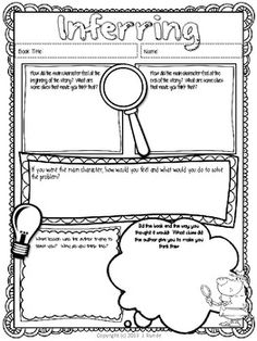 Printables Independent Reading Worksheets reading comprehension strategy posters owls chevron theme 9 different strategies use with guided read alouds