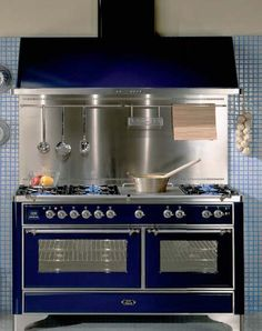 but like in a soft sage color..... retro kitchen design with vintage stove