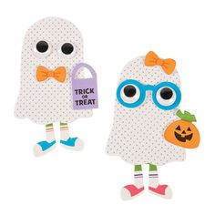 Create your own Halloween decorations with this Ghost Kid Magnet Craft Kit. A super cute addition to your craft supplies, this is a fun craft for kids to . Halloween Crafts For Kids, Fun Crafts For Kids, Fall Crafts, Crafts To Sell, Holiday Crafts, Halloween Decorations, Kid Crafts, Children Crafts, Daycare Crafts