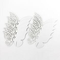 10 Hochzeit Schmetterlinge Platzkarte Tischkarte Namens Karte in Feierlichkeiten / Anlässe   • Hochzeit • Dekoration Hochzeit • Platzkarten