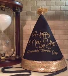 New Year's Eve Hat, New Year's Eve custom party hat, Custom Hat, Custom party favor, Custom Embroidered party hat, NYE hat, Nye custom hat by Literallylinen on Etsy https://www.etsy.com/listing/498260485/new-years-eve-hat-new-years-eve-custom