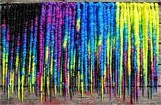 COOL RAINBOW. 60 Long SE Synthetic Dreads