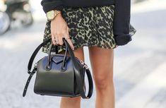 "Blogger Linn Seljeset from ""Fashion Junkie""   Sweater (Isabel Marant). Skirt (Isabel Marant). Bag (Givenchy)."