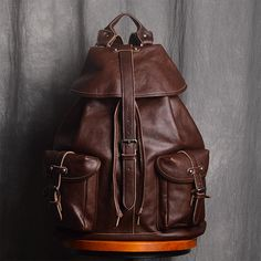2403a206c9 Handmade Full Grain Leather Backpack Men s Fashion Travel Backpack School  Backpack NP02