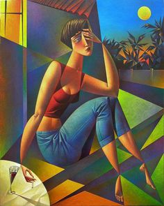 Biography and images of artist Georgy Kurasov, featured at the East West Fine Art gallery in Naples, Florida. Painting People, Figure Painting, Abstract Drawings, Art Drawings, Cubist Artists, Creative Poster Design, European Paintings, A Level Art, Artist Portfolio