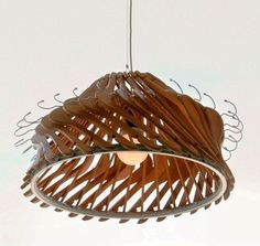Lamp made ​​of hangers