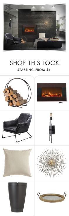 """by the Fire ..."" by lutgard-m ❤ liked on Polyvore featuring interior, interiors, interior design, home, home decor, interior decorating, ELK Lighting, Libbey and 43"