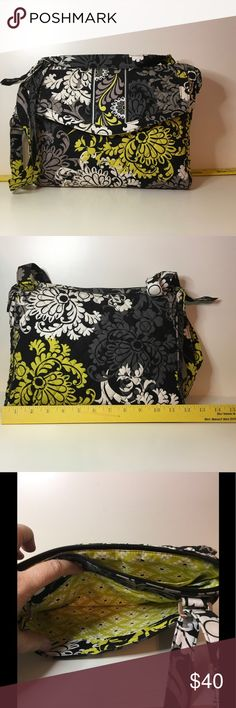 Vera Bradley Messenger bag Adjustable strap, lots of compartments- will hold iPad, small laptop, phones, etc.  only used a couple of times, great condition. Vera Bradley Bags Laptop Bags