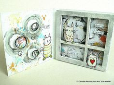 Our Creative Corner: Tando Creative chipboard and Stampotique - Any Cheering Up Needed?