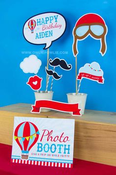 Have fun with our photo booth props, editable with adobe reader. Type over our sample text, you can only type your child's name.