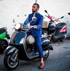 ShotbyGio, Vespa & blue suit