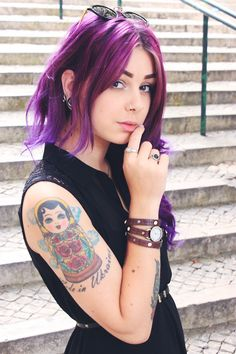 Love her hair! Would love to do something like this the next time around