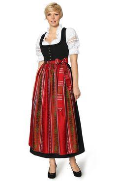 Dirndl lang 1tgl - Zenta3/SC205 - rot. Klassisches Dirndl lang (1tlg) mit hübschen Verzierungen. Unser Dirndl Zenta3/SC205 ist durch sein schlichtes Design zeitlos und vielseitig kombinierbar. Für Damen jeden Alters ist das Dirndl mit dem langen Rock eine gute Wahl. Das Kleid verzichtet auf eine Schnürung und präsentiert dafür eine Reihe aufwendig gestalteter silberner Knöpfe, die vom Kastenausschnitt bis zur Taille reichen.