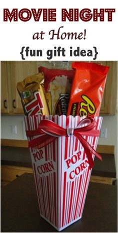 Movie Night at Home!  Such a fun gift idea anyone will love + more Creative Gift Ideas! | TheFrugalGirls.com