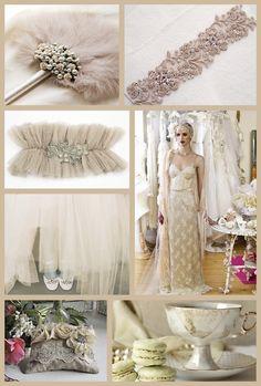 Vintage wedding in mink by Nile Fair-Juul Vintage Wedding Theme, 1920s Wedding, Wedding Themes, Wedding Styles, Wedding Lace, Vintage Weddings, Chic Wedding, Wedding Blog, Dream Wedding