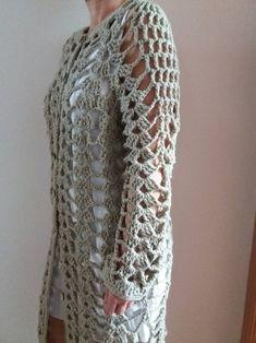Crochet coat sample summer time duster pdf obtain Straightforward pineapple Crochet Cardigan Pattern, Crochet Jacket, Crochet Blouse, Crochet Shawl, Crochet Yarn, Crochet Hooks, Crochet Patterns, Kimono Pattern Free, Hippie Vintage
