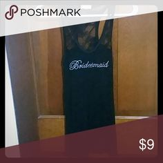 Black lacy Bridesmaid tank. Worn once. Runs small. Tops Tank Tops