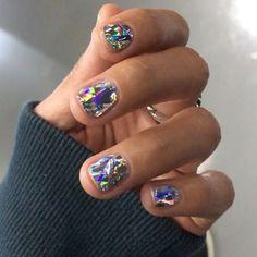 diamond nails via teen vogue