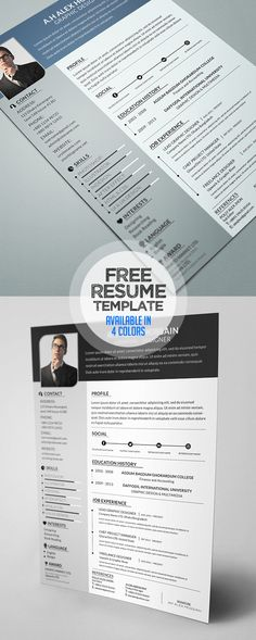 resume template with gree red and off white color palette free