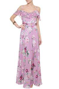 Vestido Crepe Floral Áurea