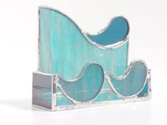 Custom Stained Glass Business Card Holder by SMFGlass on Etsy, $28.00