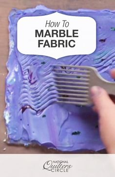 How to Marble Fabric and Marbling Fabric Techniques