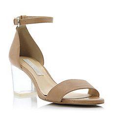 JUTTE - Perspex Block Heel Ankle Strap Sandal