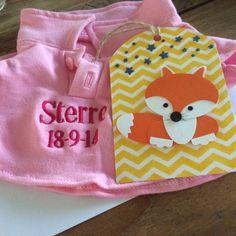 Lieve labels- vosje. Gift tag- fox. Leuk voor aan een kraamcadeautje.