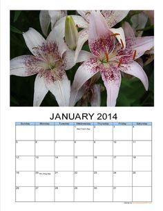 2014 Flower Photo Calendar Treat yourself by JustforJoyCreations, $20.00