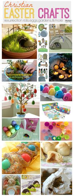 Christian Easter Crafts including Resurrection Rolls, Resurrection Eggs, Resurrection Crafts and Resurrection Gardens. Details and Kids Easter Ideas on Frugal Coupon Living.