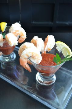 From The Unofficial Mad Men Cookbook, the classic shrimp cocktail
