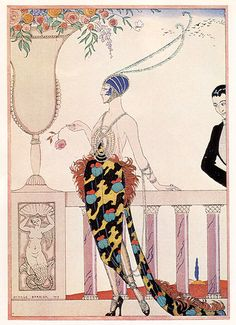 George Barbier, from Feuillettes d'Art 1919.  Via Caricature by Radimus on Flickr