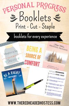 These are our Personal Progress booklets for all eight value experiences. These are darling and really focus on the purpose of each experience! Girls will love these, and they are so simple to put together – just print, cut, and staple! Each Personal Progress booklet is totally customized to help the young women …